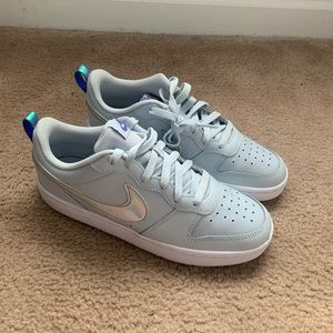 Light teal-ish Air Force ones